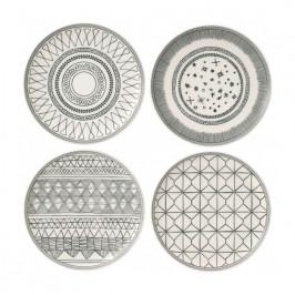 Charcoal Grey Teller-Set 4 Teile 4 Teile