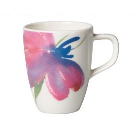 Artesano Flower Art Espressotasse weiß