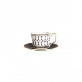 Renaissance Gold Teller für Espressotasse blau