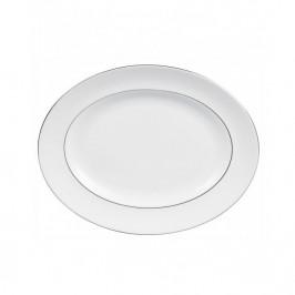 Vera Wang Blanc Sur Blanc ovaler Servierteller 35cm