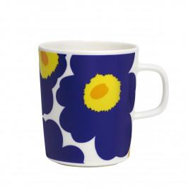 Unikko Tasse 2,5dl dunkelblau-gelb-weiß