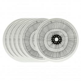 Siirtolapuutarha Teller Ø 25cm, 6er Pack schwarz-weiß