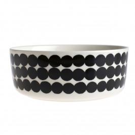 Räsymatto Servierschale 1,5 Liter schwarz-weiß