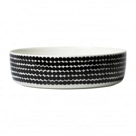Oiva Räsymatto Servierschale 3 L weiß-schwarz