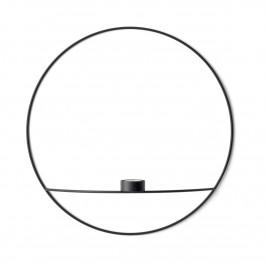 POV Circle Teelichthalter L Schwarz
