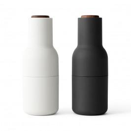 Bottle Grinder Gewürzmühle 2er Pack Ash-carbon (Walnuss Deckel) (aktualisiertes Mahlwerk)