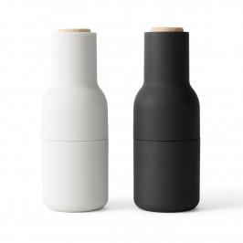 Bottle Grinder Gewürzmühle 2er Pack Ash-carbon (Buchen Deckel) (aktualisiertes Mahlwerk)