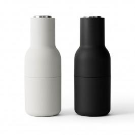 Bottle Grinder Gewürzmühle 2er Pack Ash-carbon (Stahl Deckel) (aktualisiertes Mahlwerk)