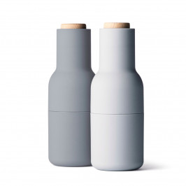 Bottle grinder Mühle 2er Pack special edition concrete- feather (Holzdeckel)