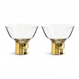 Club Cocktailglas 2er Pack gold-farbend