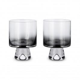 Tank Wasserglas niedrig 2er Pack Schwarz