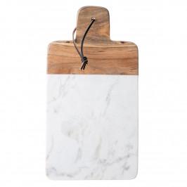 Bloomingville Schneidebrett Marmor-Mangoholz weiß