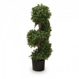 Buchsbaum Kunstpflanze LUKAS 90 aus Kunststoff, Kunstbaum, 90 cm hoch