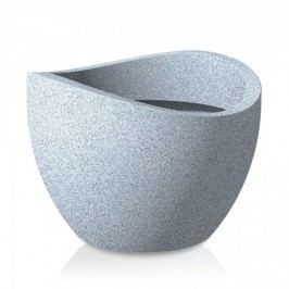 Blumenkübel Scheurich Wave Globe 250 weiß-granit