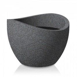 Blumenkübel Scheurich Wave Globe 250 schwarz-granit 40cm