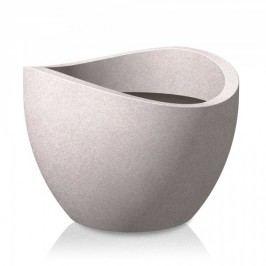 Blumenkübel Scheurich Wave Globe 250 taupe-granit