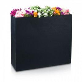 Raumteiler DIVISOR 100 Fiberglas Pflanzkübel Blumenkübel Pflanztrog Blumentrog, Maße: 116x40x100 cm (L/B/H), Farbe: schwarz