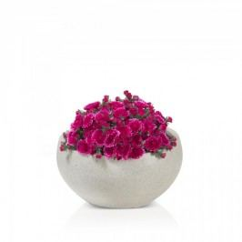 Runde Pflanzschale ISLA 20 Blumenschale Pflanzkübel Blumenkübel, Maße: 40x40x20 cm (L/B/H), Farbe: terrazzo