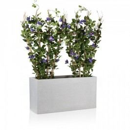 Blumentrog Visio 40 Fiberglas Pflanztrog Pflanzkübel Pflanzbehälter, Maße: 80x30x40 cm (L/B/H), Farbe: terrazzo