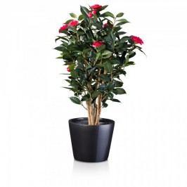 Pflanzkübel TERRA 25 Fiberglas Blumenkübel Pflanztopf Blumentopf, Maße: 31x31x25 cm (L/B/H), Farbe: grau metallic