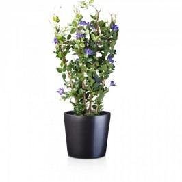 Runder Pflanzkübel TERRA 36 Fiberglas Blumenkübel Pflanztopf Blumentopf, Maße: 41x41x36 cm (L/B/H), Farbe: grau metallic
