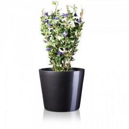 XXL Pflanzkübel TERRA 51 Fiberglas Blumenkübel Pflanztopf Blumentopf Maße: 61x61x51 cm (L/B/H), Farbe: grau metallic