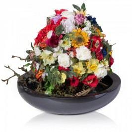 Blumenschale Pflanzschale TAPI 11 grau metallic aus Fiberglas