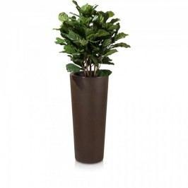Blumenkübel CONO 90 Kunststoff Pflanzkübel Pflanztopf Bklumensäule Pflanzsäule Maße: 40x40x90 cm (L/B/H), Farbe: bronze