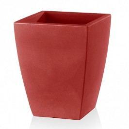 Blumenkübel TARRO PLAZA 41 Kunststoff Pflanzkübel Pflanztopf Blumentopf Maße: 33x33x41 cm (L/B/H), Farbe: rot