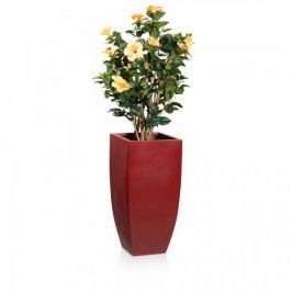 Blumenkübel rot matt Fiberglas  - Decoras Pflanzkübel