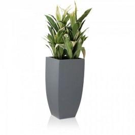 Pflanzgefäß grau matt Fiberglas - Decoras Pflanzkübel