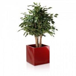 Pflanzkübel eckig Fiberglas rot hochglanz Blumenkübel Pflanztopf. Abmessungen: 40x40x40 cm (L/B/H)