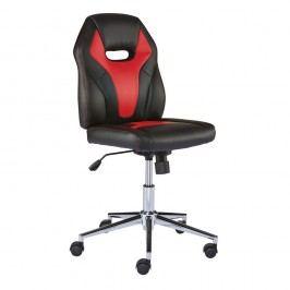 Staples Coupe Kunstleder-Bürostuhl, 44,5 - 54,5 cm Höhe, Schwarz und Rot