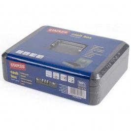 Staples Staples® Geldkassette 12 Zoll Dunkelgrau