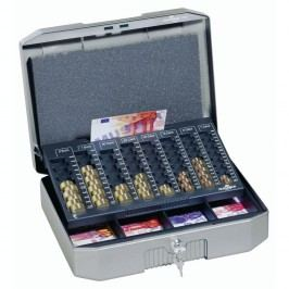 Durable Geldkassette €UROBOXX®, Stahlblech, Tragegriff, EUR, 352 x 276 x 120 mm, anthrazit/grau