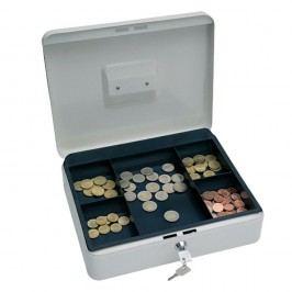 Wedo Geldkassette, 5 Fächer, Stahl, 250 x 180 x 90 mm, weiß