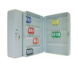 Wedo Schlüsselschrank, für: 70 Schlüssel, 280 x 60 x 370 mm, lichtgrau