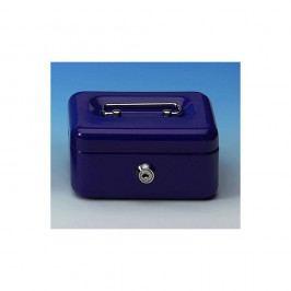 Wedo Geldkassette, Gr. 1, 4 Fächer, Stahl, 152 x 115 x 80 mm, blau