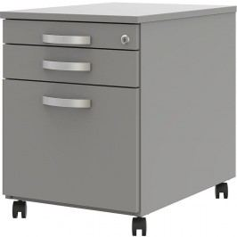 Wellemöbel Rollcontainer, Office grau, B 43,5 x T 60 x H 57,5 cm