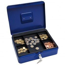 Wedo Geldkassette, 5 Fächer, Stahl, 300 x 240 x 90 mm, blau