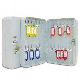 Wedo Schlüsselschrank, für: 24 Schlüssel, 180 x 60 x 250 mm, lichtgrau