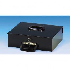 Wedo Geldkassette Universa, Stahlblech, Sicherheitszylinderschloss, 2 Tragegriffe, EUR, 355 x 275 x 100 mm, schwarz