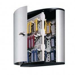 Durable Schlüsselschrank Key BOX, Aluminium, Schlüsselschloss, für: 54 Schlüssel, 302 x 118 x 280 mm, silber