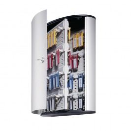 Durable Schlüsselschrank Key BOX, Aluminium, Schlüsselschloss, für: 72 Schlüssel, 302 x 118 x 400 mm, silber