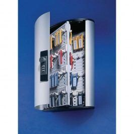 Durable Schlüsselschrank Key Box 72 CODE, Aluminium, Zahlenschloss, für: 72 Schlüssel, 302 x 118 x 400 mm, silbermetallic