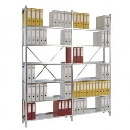 Manuflex Registra Anbauregal, 6 Böden, (B x H x T): 93 x 225 x 30 cm