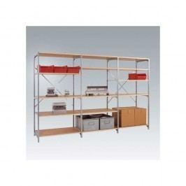 Manuflex Budget Anbauregal, 5 Holzböden, (B x H x T): 100 cm x 200 cm x 30 cm