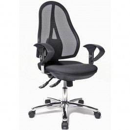 Topstar Open Point® Deluxe Sy Bürostuhl mit Netzbespannung, Höhe: 103-111cm, Schwarz und Chrom