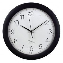 Xavax Wanduhr PG-300, Batteriebetrieb, Funk, rund, Ø: 30 cm, Kunststoff, schwarz, Ziffernblatt, weiß