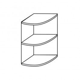 Wellemöbel Tisch-Eckregal, Viertelkreis, 2 Ordnerhöhen, BxHxT: 40 x 72 x 40 cm